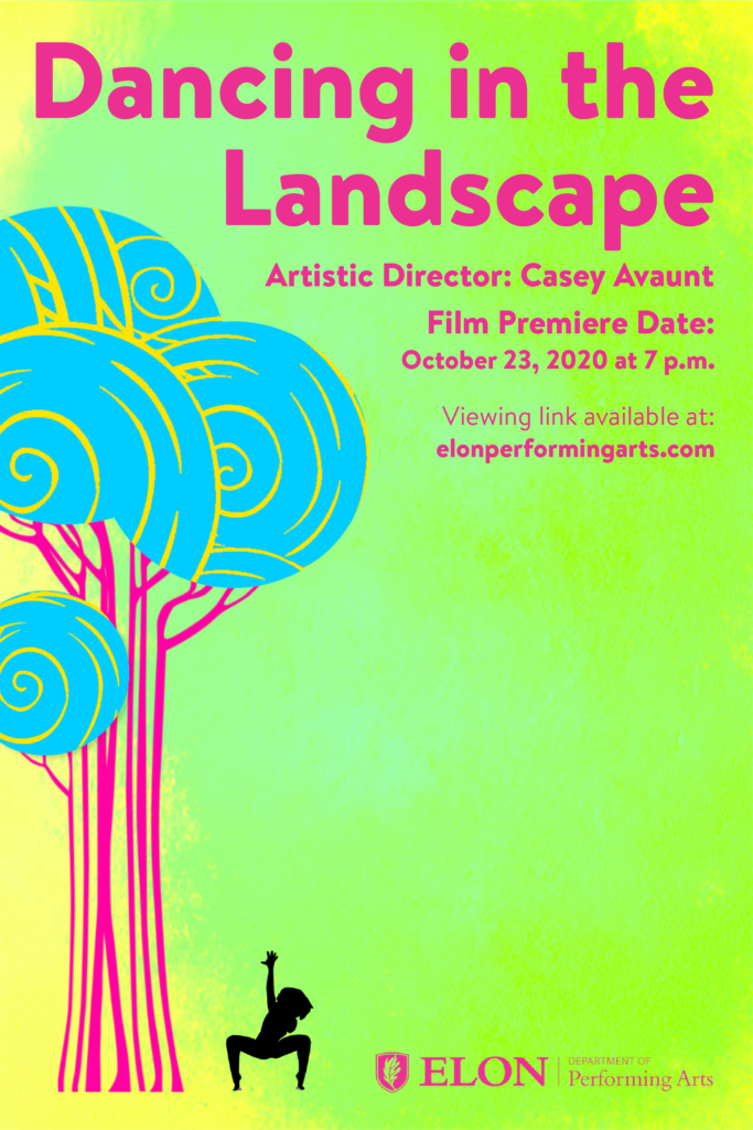 Dancing in the Landscape poster, Film Premiere Date: Oct. 23 at 7 pm
